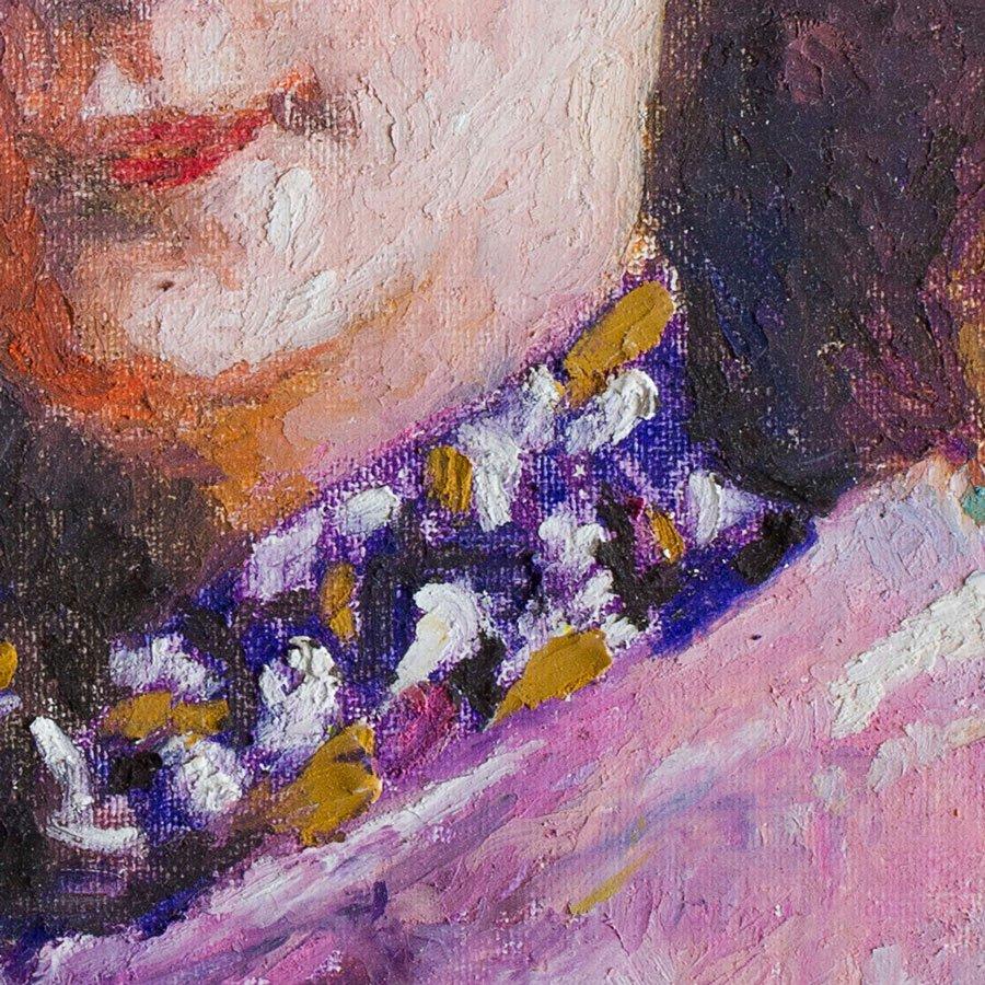 Studio di Anita 1, particolare, pastelli su tela cm. 20 x 30