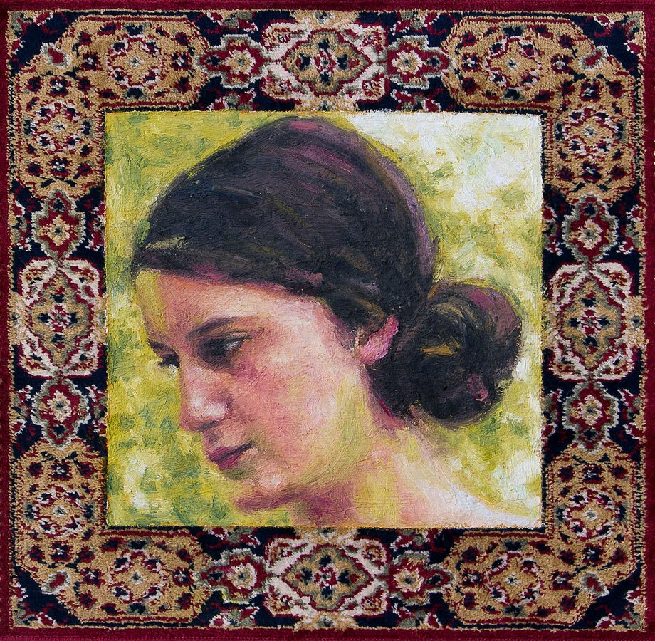 Anita, ritratto su tappeto