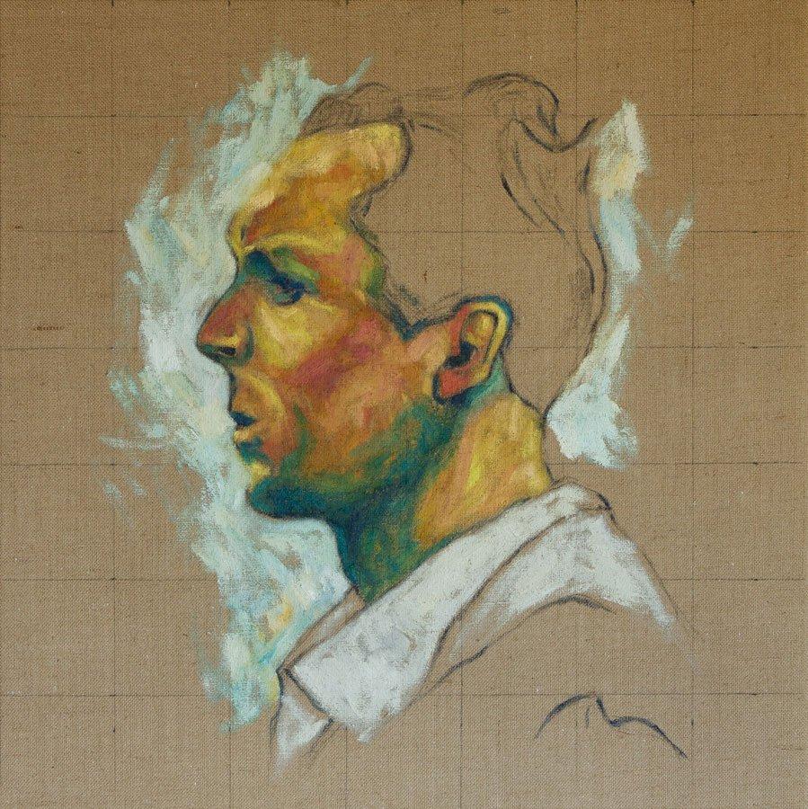 Antonio Giuriolo, olio su tela juta, cm. 80 x 80