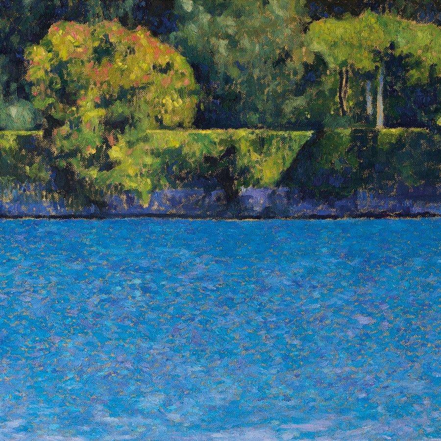 Isola del Garda, particolare, olio su tela, cm. 70 x 70