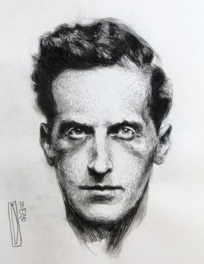 Ludwig Wittgenstein, studio di fronte
