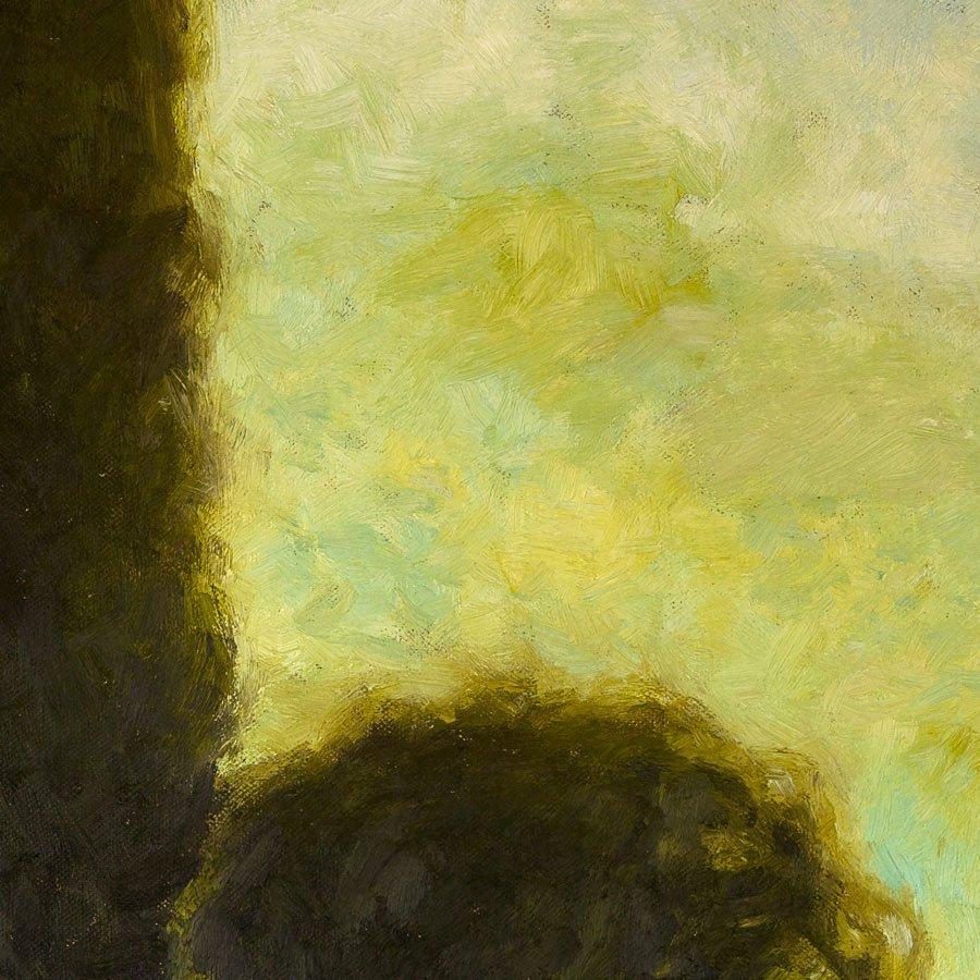 Paesaggio Autunnale, particolare, olio su tela, cm. 50 x 50