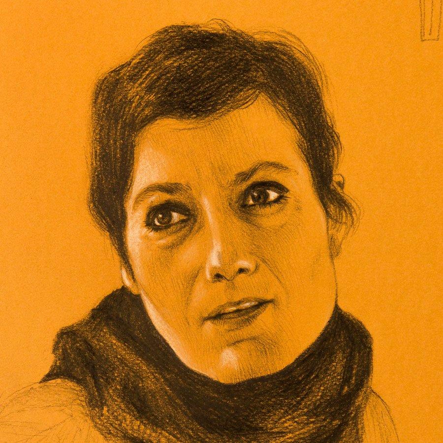Patrizia Greco Studio, matita su carta colorata