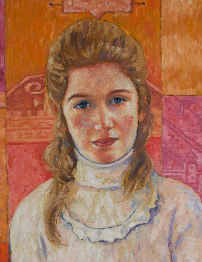 Ritratto di Anita, olio su tela, cm. 150 x 75