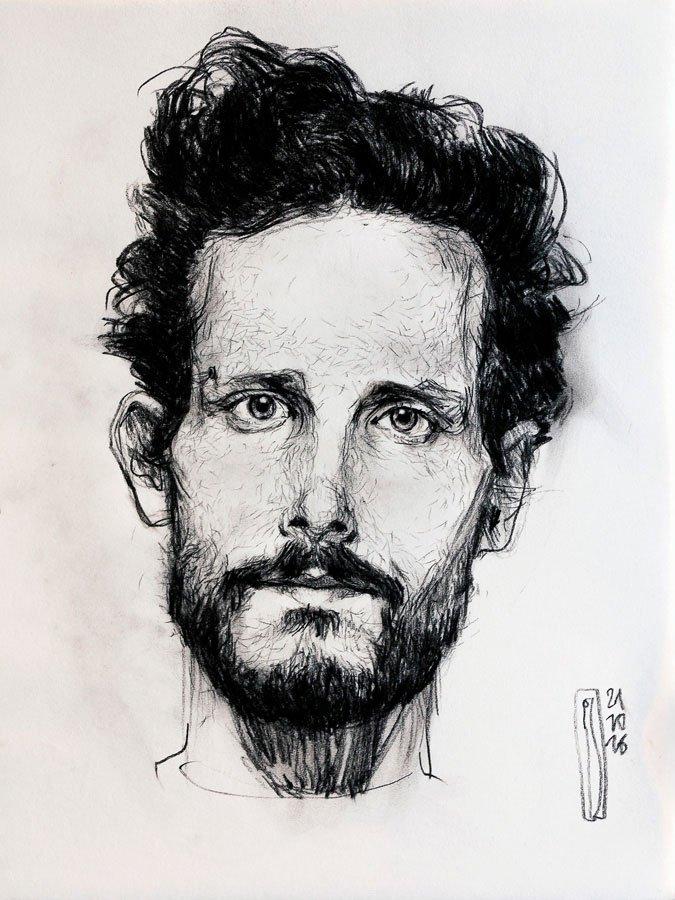 Studio di Piero Casentini, matita carboncino su carta cm. 56 x 44