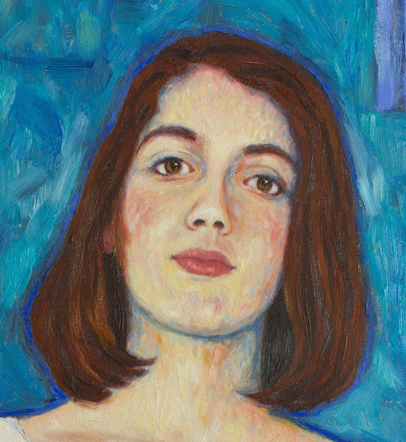 Ritratto di Vittoria Corà, particolare del viso