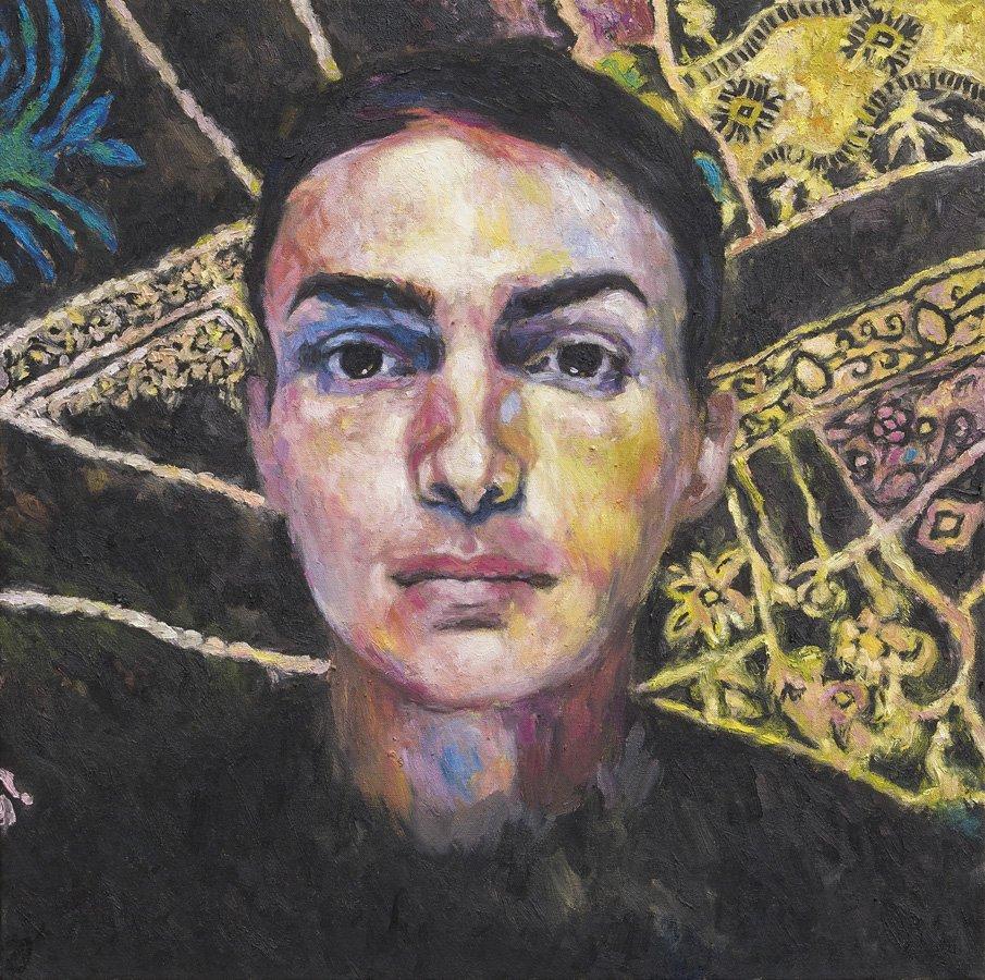 Ritratto di Junior Julian, olio su tela, cm. 70 x 70