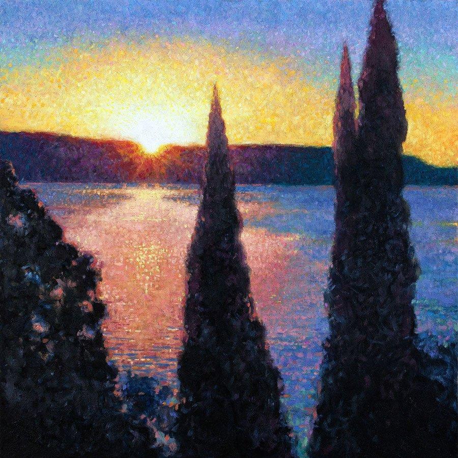 Alba sul lago di Garda