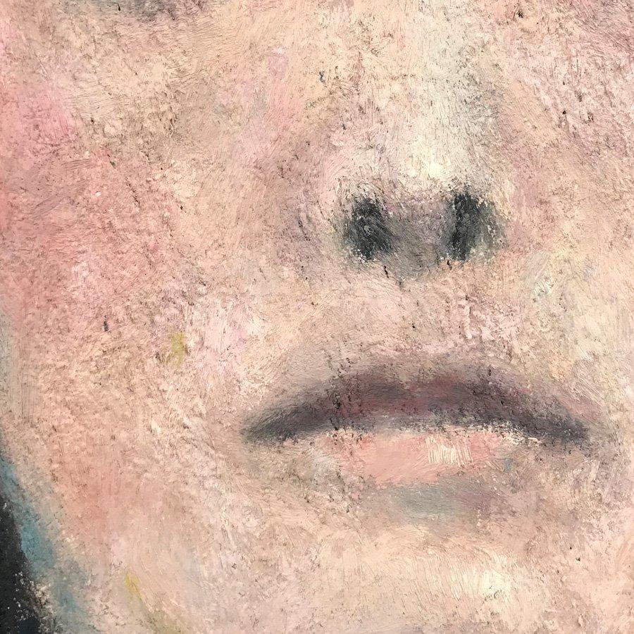 Demone femminile, particolare del naso