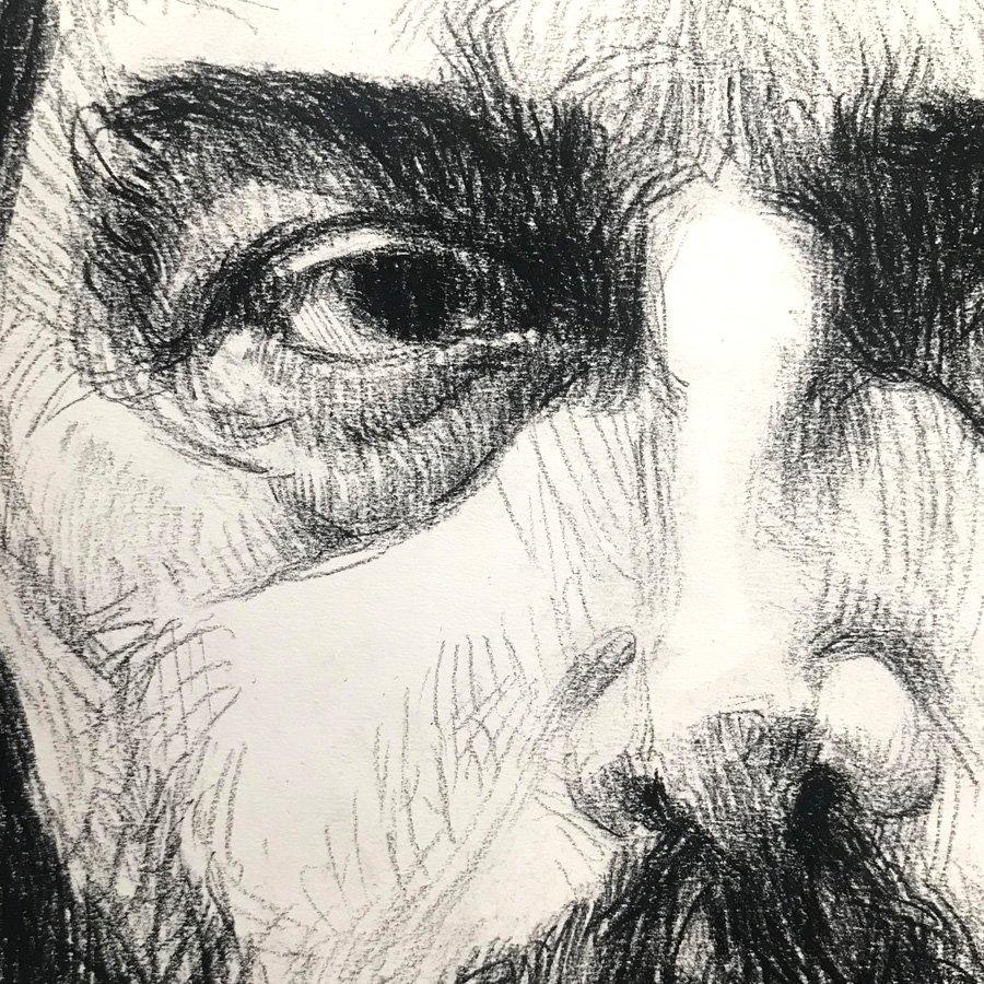 Studio di Fabio, matita carboncino su carta cm. 56 x 43, 2018