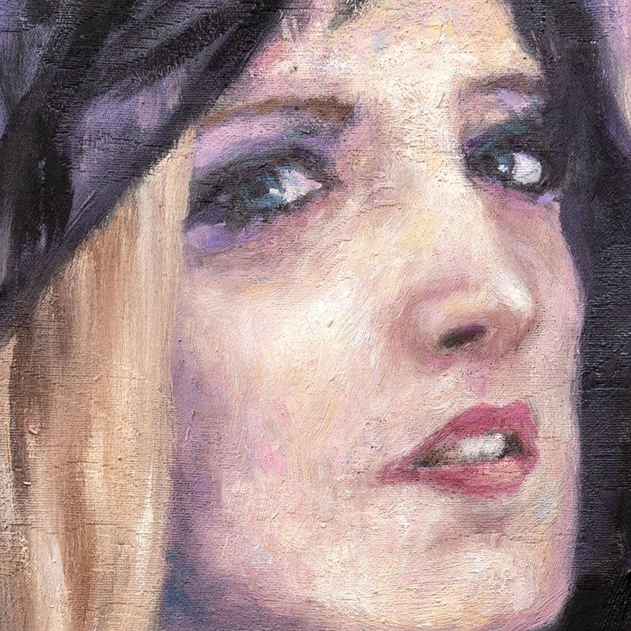 Ritratto di Alessandra Gioia, particolare del volto