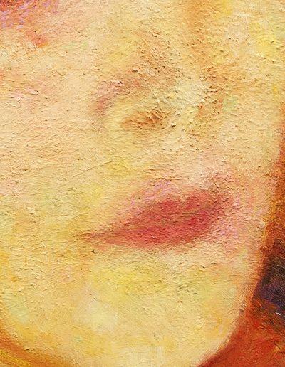 Demone Femminile II, particolare della bocca